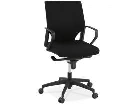 Design bureaustoel 'KIWI LOW' in zwarte stof