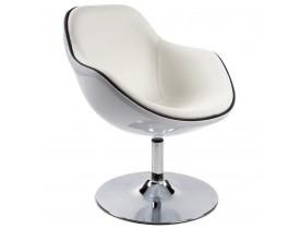 Witte kuipzetel 'KOK' met draaibare zitschaal