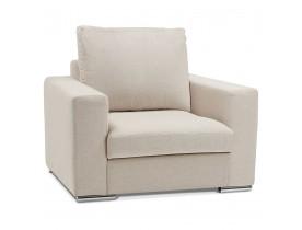 Fauteuil 1 zitplaats LUCA MINI van beige stof - Alterego Nederland
