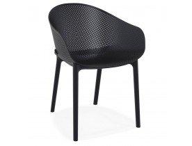 Geperforeerde design terrasstoel 'LUCKY' zwart