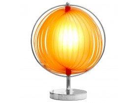 Tafellamp 'LUNA' met oranje plastic lamellen