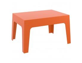 Lage, oranje tafel 'MARTO' uit kunststof