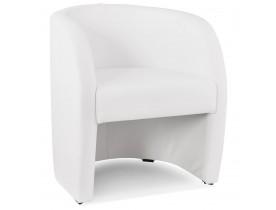 Fauteuil voor de woonkamer 1 zitplaats MAX in wit synthetisch materiaal - Alterego