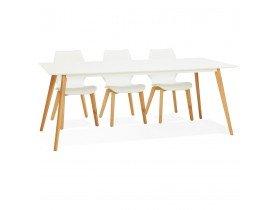 Witte design eettafel 'MADY' in Scandinavische stijl - 200x90 cm