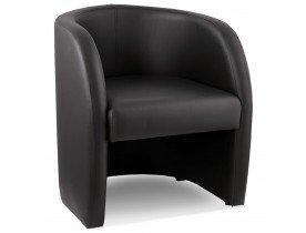 Fauteuil voor de woonkamer 1 zitplaats MAX in zwart synthetisch materiaal - Alterego
