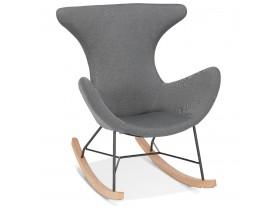 Design schommelstoel 'MEXICO' in donkergrijze stof