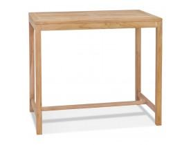 Hoge tafel 'MOUSTIK BAR' van natuurlijk teakhout voor binnen/buiten - 120x70 cm