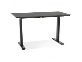 In hoogte verstelbare kleine bureau 'NOVELLA' van hout en zwart metaal - 130x70 cm