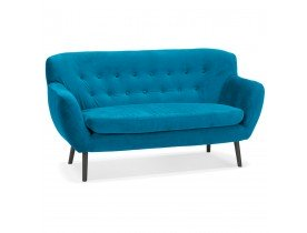 Rechte zetel van blauwgroen velours 'OPERA' - 2 zitplaatsen