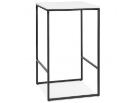 Hoge, industriële 'ORTOS' tafel met wit blad en zwarte structuur