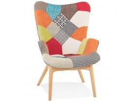Oorfauteuil 'PADOUK' patchwork stijl