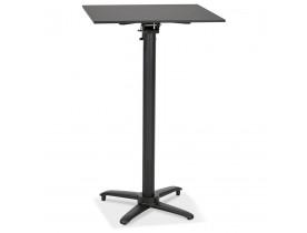 Opvouwbare hoge vierkante zwarte tafel 'PAXTON' - 68x68 cm