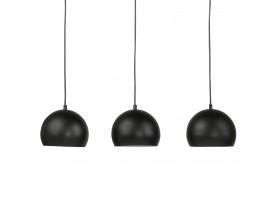 Zwarte metalen hanglamp met drie bolvormige lampen 'PENDUL'