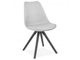 Design stoel 'PIPA' grijs