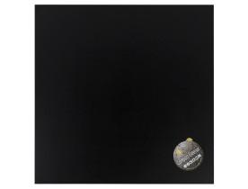 Zwart, vierkant tafelbad 'PLANO' 60x60cm uit gecompresseerd hars