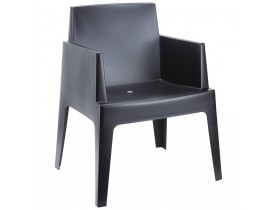 Designstoel 'PLEMO' zwart