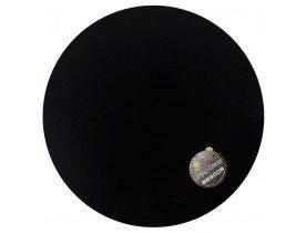 Zwart, rond tafelbad 'PLANO' Ø 68cm uit gecompresseerd hars