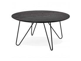 Zwarte design tafel PLUTO in industriële stijl - Alterego