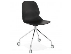 Moderne bureaustoel 'RALLY' zwart op wieltjes
