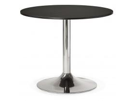 Kleine, ronde, zwarte bureau-/eettafel 'SAOPOLO' - Ø 90 cm