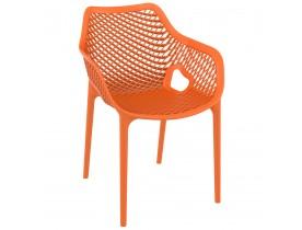 Oranje kunststof 'SISTER' tuin- / terrasstoel