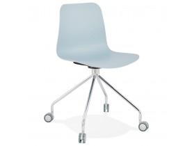 Design bureaustoel 'SLIK' blauw op wielen