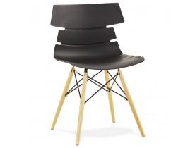 Moderne, zwarte stoel 'SOFY' in Scandinavische stijl