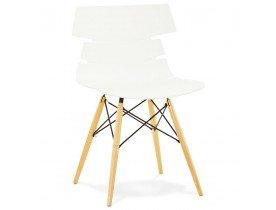 Moderne, witte stoel 'SOFY' in Scandinavische stijl