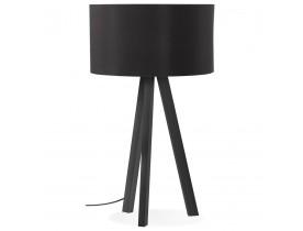 Design tafellamp 'SPRING MINI' met lampenkap en zwarte staander