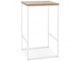 Hoge, design 'STRAMOS' tafel met witte structuur en natuurlijke afwerking voor professionelen uit de HORECAsector