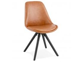 Design stoel 'STREET' bruin industriële stijl