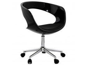 Zwarte bureaustoel 'STRATO' op wielen