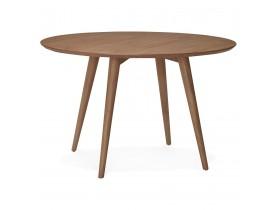 Notenhouten, ronde eettafel 'SWEDY' in Scandinavische stijl - Ø 120 cm