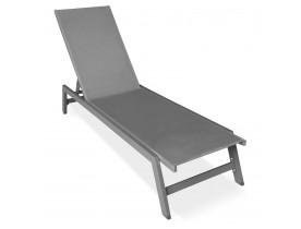 Donkergrijze tuinligstoel 'TARIFA' - bestel per 2 stuks / prijs voor 1 stuk