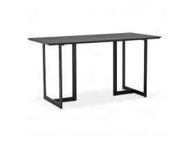 Eettafel / design bureau TITUS van zwart hout - 150x70 cm - Alterego