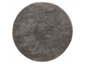 Donkergrijs rond design tapijt 'TISSO' - Ø 200 cm