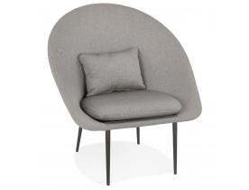 Design loungefauteuil 'TOTEM' in lichtgrijze stof