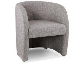 Design fauteuil voor de woonkamer 1 zitplaats 'TOM' in grijze stof