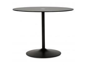 Ronde, zwarte glazen eettafel 'TROBO' - Ø 100 cm