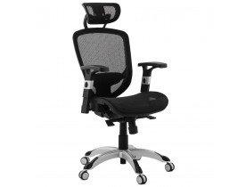 Zwarte, ergonomische bureaustoel TYPHON - Alterego 2