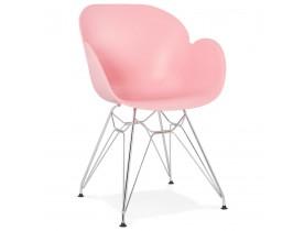 Moderne stoel 'UNAMI' roze van kunststof