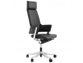 Ergonomische bureaustoel 'VIP' in echt zwart leder.