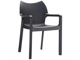 Design terrasstoel 'VIVA' uit zwarte kunststof