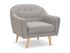 Gecapitonneerde fauteuil WINSTON MINI in grijze stof - Alterego