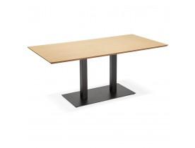 Design tafel / bureau 'ZUMBA' met natuurlijk houten afwerking - 180x90 cm