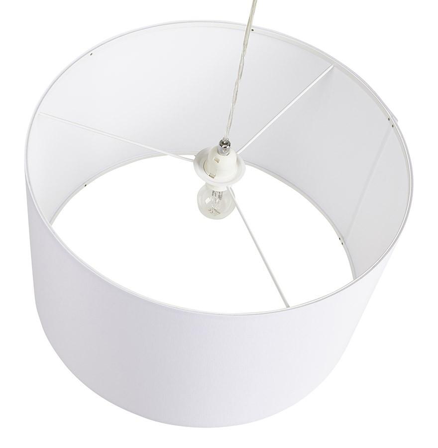 Magnifiek Ronde hanglamp BUNGEE van witte stof - Design kroonluchter RX73
