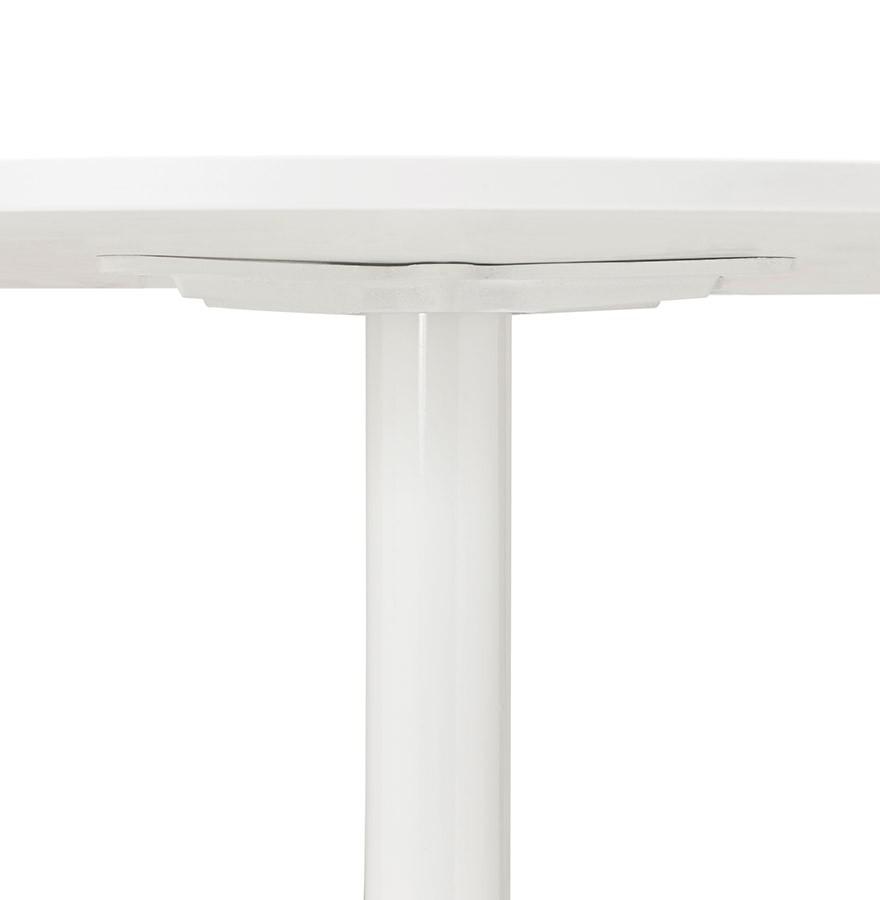 Tafel Rond 90 Cm.Ronde Witte Bureautafel Orlando 120 Cm Eettafel