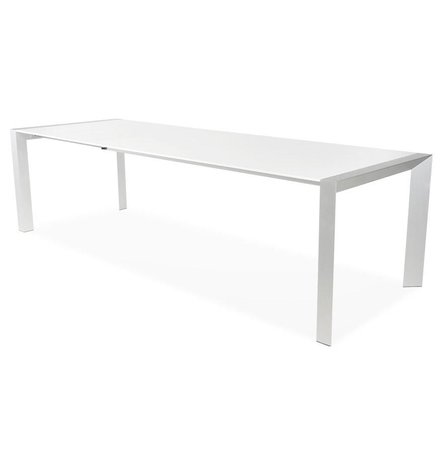 witte uitschuifbare design tafel titan met verlengstukken. Black Bedroom Furniture Sets. Home Design Ideas