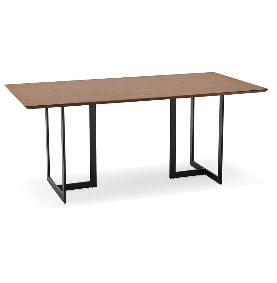 Design tafel titus van notenhout modern bureau 180x90 cm for Bureau 150x70