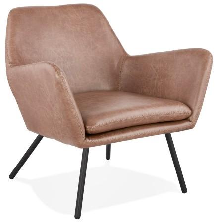 Design loungestoel 'AMERIKA' van bruin, synthetisch materiaal